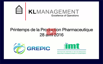 1ppp Printemps Production Pharmaceutique 2016 KLMANAGEMENT